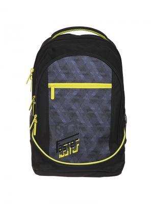 Рюкзак Style Faster 42*30*20см, 3 отделения, кармана, эргономичная спинка Berlingo. Цвет: черный, желтый