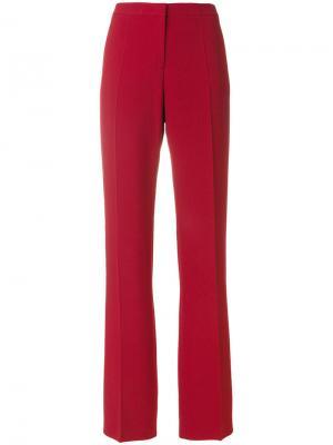 Прямые строгие брюки Mantu. Цвет: красный