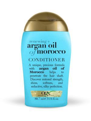 Мини кондиционер для восстановления волос с аргановым маслом OGX. Цвет: белый