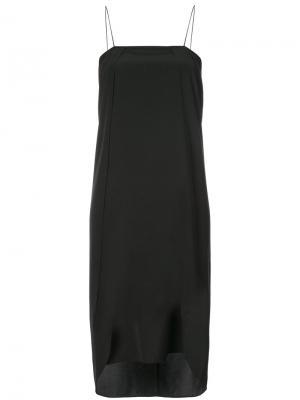 Классическое платье шифт Toteme. Цвет: чёрный