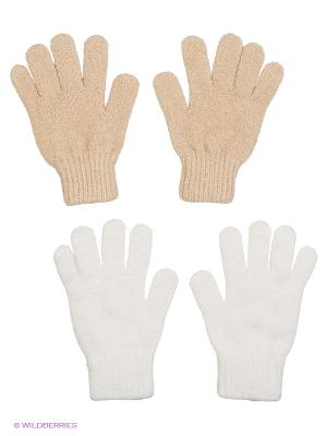 Перчатки - 2 пары FOMAS. Цвет: кремовый, белый
