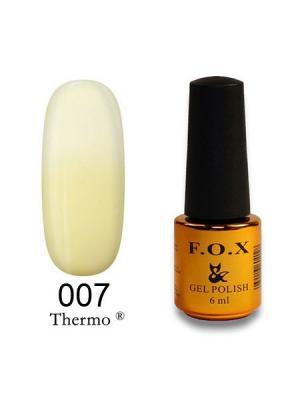 Гель-лак F.O.X Thermo 007, 6 ml. Цвет: светло-бежевый, молочный, светло-желтый