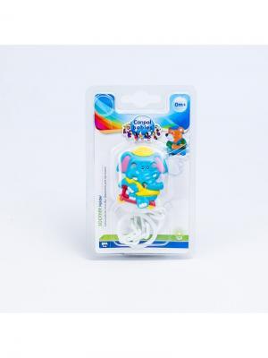 Клипса-держатель для пустышек - Animals, 0+, рисунок: слоник Canpol babies. Цвет: бирюзовый