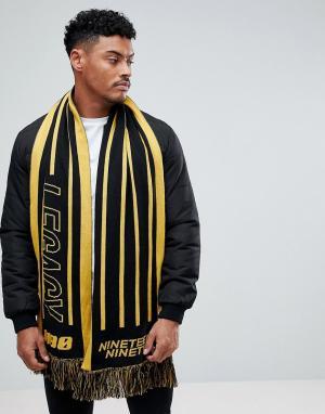 New Look Шарф с принтом (черный/желтый). Цвет: черный