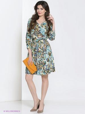 Платье Культ платья BRACEGIRDLE. Цвет: голубой, сиреневый, молочный