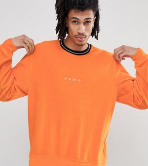Puma Оранжевый бархатный свитшот с круглым вырезом эксклюзивно для ASO. Цвет: оранжевый