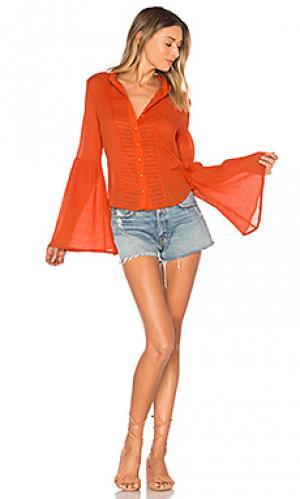 Рубашка с рукавами-колокол `old days AUGUSTE. Цвет: оранжевый
