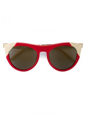 Солнцезащитные очки Zoubisou Smoke X Mirrors. Цвет: красный