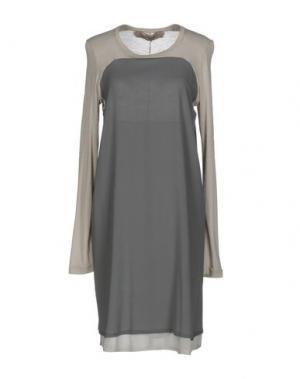 Платье до колена NICOLAS & MARK. Цвет: серый