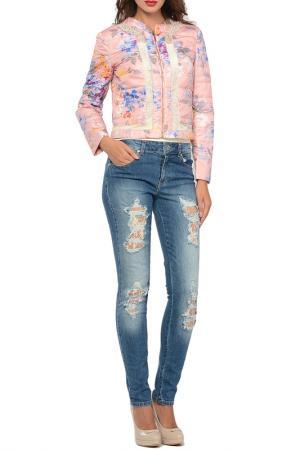 Короткая куртка Blumarine. Цвет: розовый