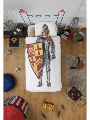 Комплект постельного белья Рыцарь 150х200см SNURK. Цвет: серый, терракотовый, бордовый