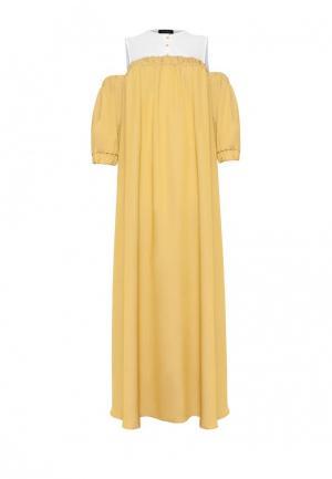 Платье Lucky Move. Цвет: желтый