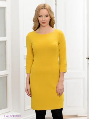 Платье BOVONA. Цвет: желтый