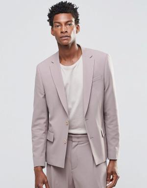 ASOS Розовый пиджак слим. Цвет: розовый