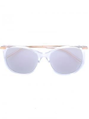 Солнцезащитные очки с квадратной оправой Boucheron. Цвет: серый