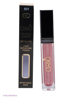 Блеск для губ Crystal Lights Gloss, 501 тон GA-DE. Цвет: бледно-розовый