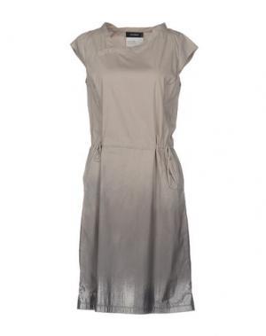 Короткое платье CIVIDINI. Цвет: песочный