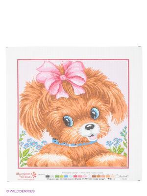 Набор для вышивания Собачка Матренин Посад. Цвет: белый, голубой, коричневый