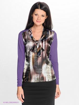 Блузка Natali Silhouette. Цвет: фиолетовый, зеленый