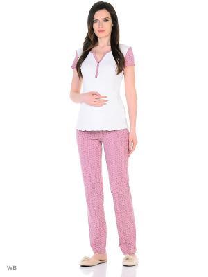 Комплект для беременных и кормящих ФЭСТ. Цвет: светло-серый, белый, розовый