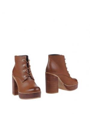 Полусапоги и высокие ботинки POLICE 883. Цвет: желто-коричневый