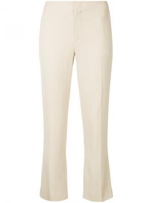 Укороченные строгие брюки Bassike. Цвет: телесный