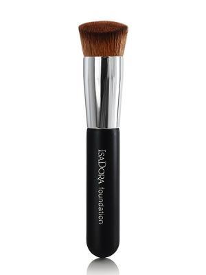 Кисть для тонального крема и пудрыPerfect Face Brush ISADORA. Цвет: черный