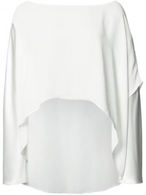Блузка с неравномерным подолом Peter Cohen. Цвет: белый