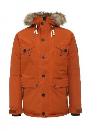 Куртка утепленная FIVE seasons. Цвет: коричневый