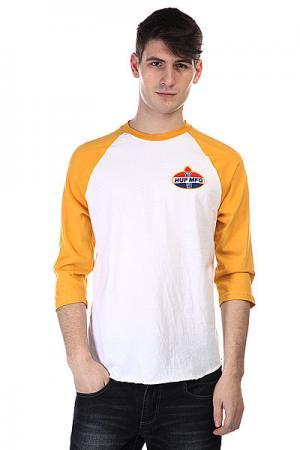 Лонгслив  Hector Raglan White / Mustard Huf. Цвет: белый,желтый