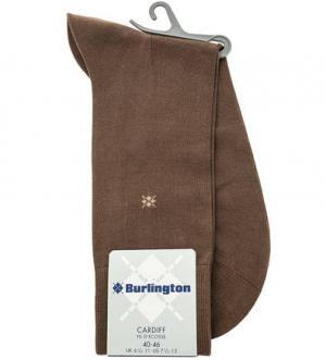 Коричневые хлопковые носки Burlington. Цвет: коричневый