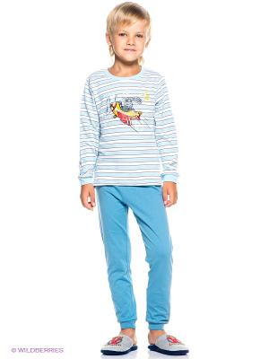Пижама PELICAN. Цвет: голубой, серо-голубой