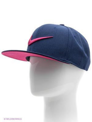 Бейсболка SWOOSH PRO - BLUE Nike. Цвет: синий
