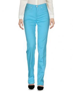 Повседневные брюки ROCCOBAROCCO. Цвет: небесно-голубой
