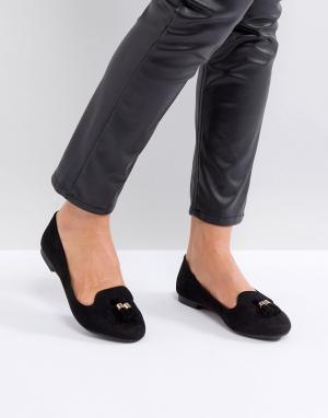 New Look Слиперы с кисточками. Цвет: черный