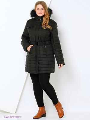Пальто Azule. Цвет: черный