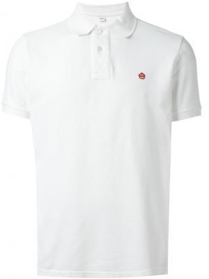 Классическая футболка-поло Aspesi. Цвет: белый