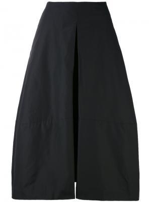 Расклешенные брюки Davis Jil Sander. Цвет: чёрный