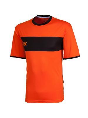 Футболка игровая Line 2K. Цвет: оранжевый, черный