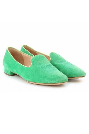 Слиперы Giorgio Armani. Цвет: зеленый