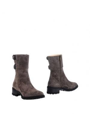 Полусапоги и высокие ботинки L'ARIANNA. Цвет: серый