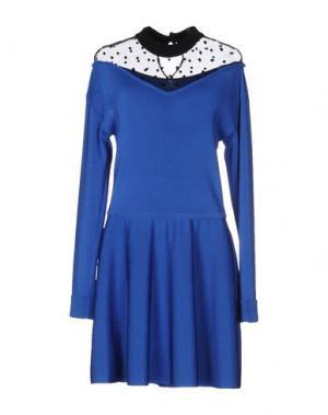 Короткое платье EMANUEL UNGARO. Цвет: синий