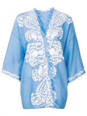 Накидка-кимоно с аппликацией P.A.R.O.S.H.. Цвет: синий