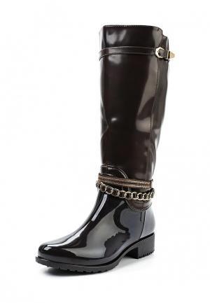 Резиновые сапоги Sweet Shoes. Цвет: коричневый