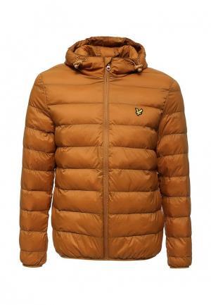 Куртка утепленная Lyle & Scott. Цвет: коричневый