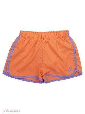 Шорты SHORT ASICS. Цвет: оранжевый