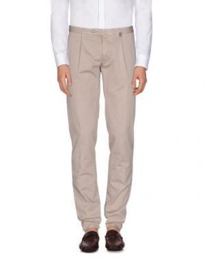 Повседневные брюки GIO ZUBON. Цвет: голубиный серый