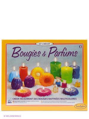 Набор для изготовления  свечей Парфюмированный SENTOSPHERE. Цвет: желтый