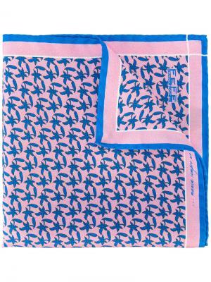 Платок паше с принтом Fefè. Цвет: розовый и фиолетовый