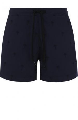 Хлопковые плавки-шорты с карманами Tomas Maier. Цвет: темно-синий